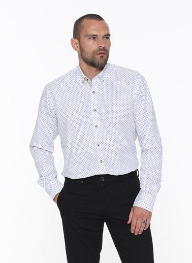 Beymen Business 4B2020200004 Regular Fit Gömlek Baskılı Beyaz
